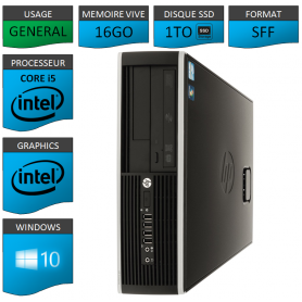 PC HP Core i5 16Go 1000Go SSD Windows 10 Pro