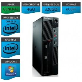 Lenovo ThinkCentre M90 eUSFF Windows 7 pro 64