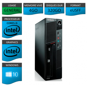 Lenovo ThinkCentre M90 eUSFF Windows 10 pro 64