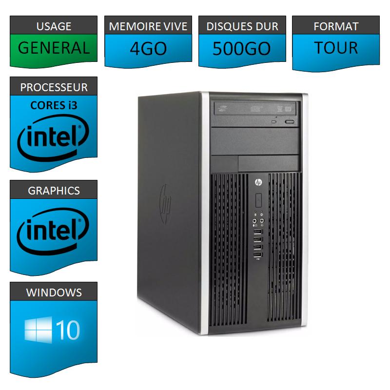 HP Elite 8300 i3 4Go 500Go W10P