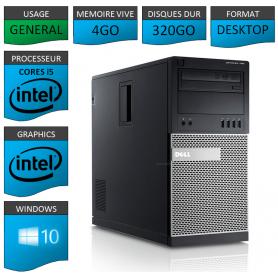 Dell Optiplex 790 Core i5 4Go 320Go Windows 10