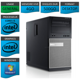 Dell Optiplex 790 Core i5 4Go 500Go