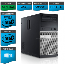 Dell Optiplex 790 Core i5 4Go 500Go Windows 10