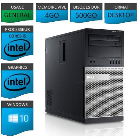 Dell Optiplex 790 Core i5 4Go 500Go Windows 10