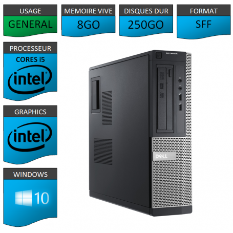 Dell Optiplex 980 SFF i5 8Go 250Go Windows 10