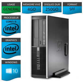 PC HP Pro 6300 SFF Core i3 4Go 250Go Windows 10 pro