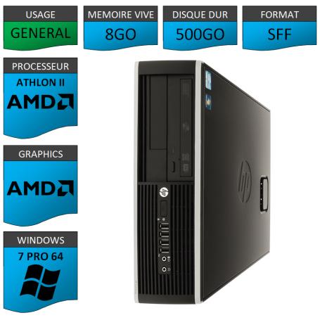 HP AMD Athlon II 8Go 500Go W7P
