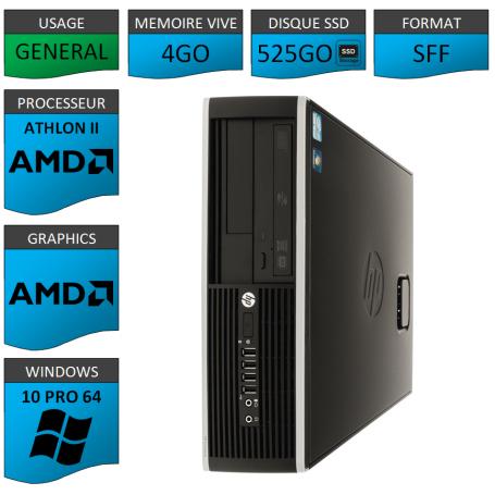 HP AMD Athlon II 4Go 525SSD W10P