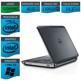 Dell latitude e5430 4Go SSD130 Windows 7 Pro 32