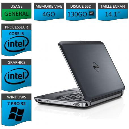 Dell latitude e5430 4Go SSD130 Windows 7 Pro 32