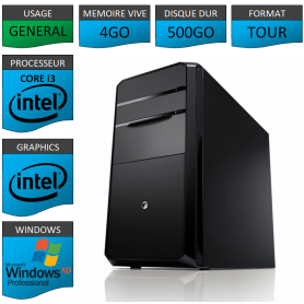 PC NEUF Windows XP Pro i3 4Go 500Go