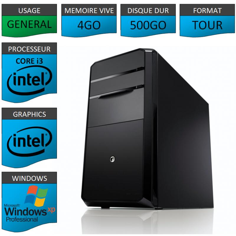 PC NEUF Windows XP Pro i3 4Go 500Go
