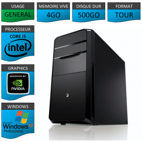 PC NEUF Windows XP Pro i5 4Go 500Go Geforce 1Go