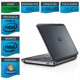 Dell latitude e5430 8Go SSD130 Windows 7 Pro 64