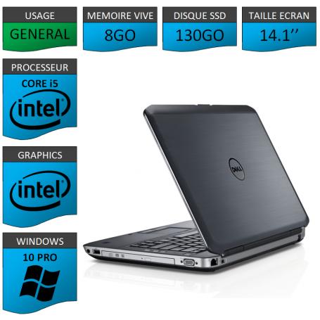 Dell latitude e5430 8Go SSD130 Windows 10 Pro 64