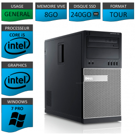 Dell Optiplex 990 i5 8Go SSD240 Windows 7