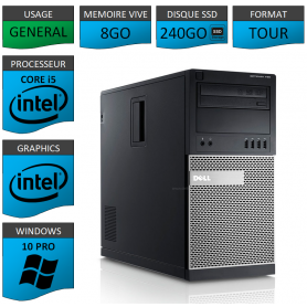 Dell Optiplex 990 TOUR 8Go SSD240 Windows 10