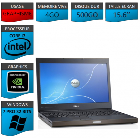 Dell Precision 4Go 500Go Windows 7 Pro 32 bits