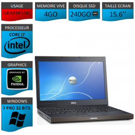 Dell Precision 4Go 240SSD Windows 7 Pro 32 bits