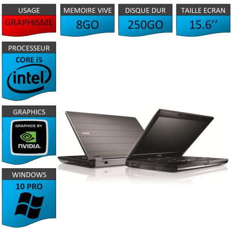 Dell Precision M4500 8Go 250Go W10P