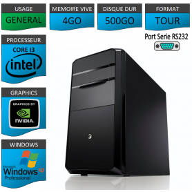 PC NEUF Windows XP Pro i3 4Go 500Go Geforce 1Go 2 Ports Serie