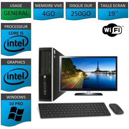 "PC HP Intel Core i5 windows 7 Pro 64 bits 19"" Kit Clavier Souris WIFI"