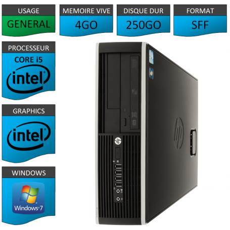 PC HP Core i5 Windows 7 pro Garanti 1 an