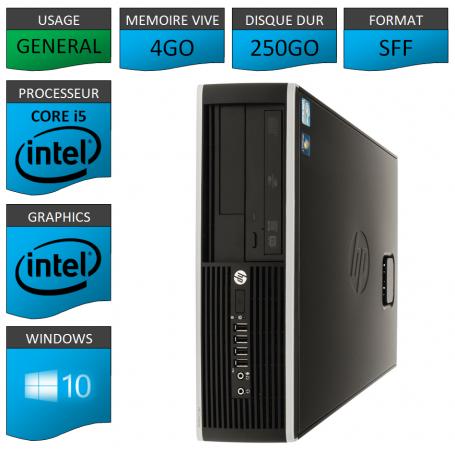 PC HP Pro Core i5 4Go 250Go Windows 10 pro