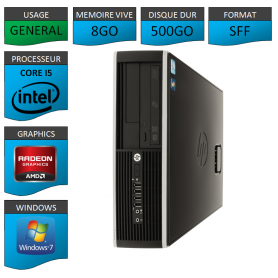 PC HP Elite Core i5 8Go 500Go Windows 7 pro