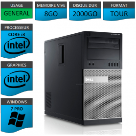 Dell Optiplex 790 Core i3 8go 2000Go Windows 7 Pro
