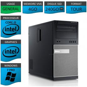 Dell Optiplex 990 i5 4Go SSD240 Windows 7