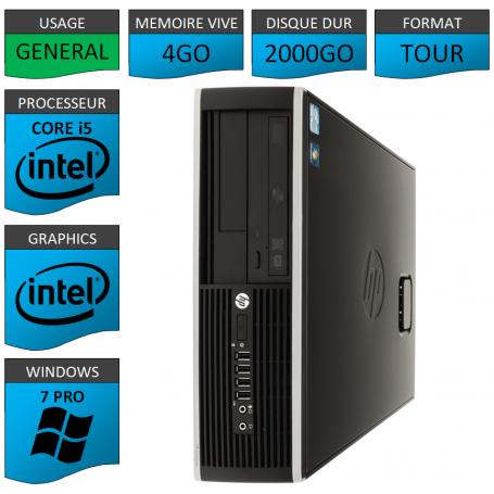 PC HP Pro Core i5 4Go 2000Go Windows 7 pro