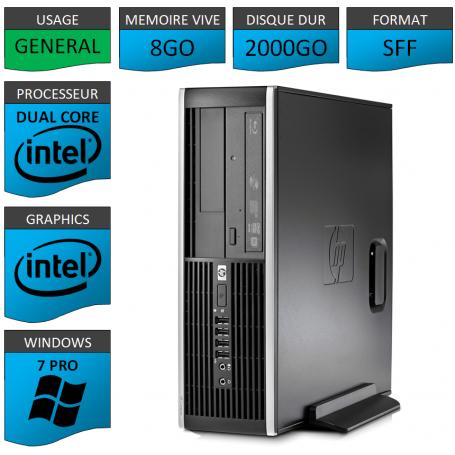 HP Elite 8300 8Go 2000Go W7P