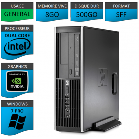 HP Elite 8300 8Go 500Go W7P Geforce