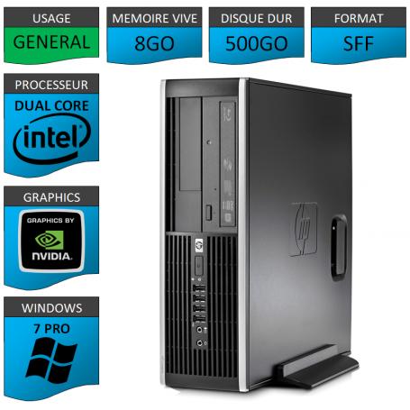 HP Elite 8300 8Go 500Go W7P Geforce