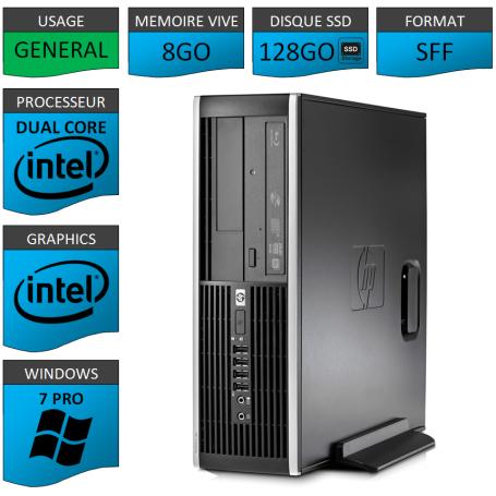 HP Elite 8300 8Go 128SSD W7P