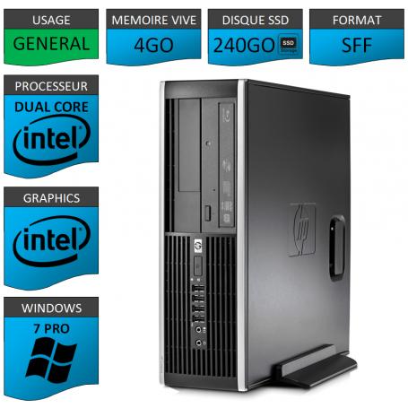 HP Elite 8300 4Go 240SSD W7P