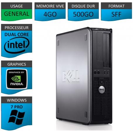 PC DELL OPTIPLEX 4GO 500GO WINDOWS 7 PRO Geforce