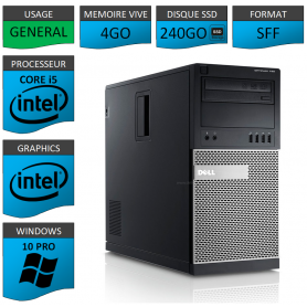 Dell Optiplex 990 TOUR 4Go SSD240 Windows 10