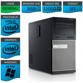 Dell Optiplex 990 TOUR 8Go SSD120 Windows 10