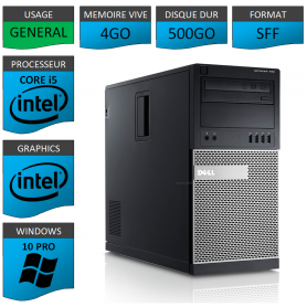 Dell Optiplex 990 TOUR 4Go 500Go Windows 10