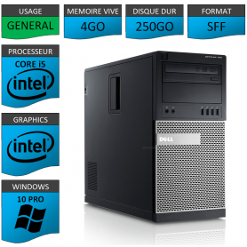 Dell Optiplex 990 TOUR 4Go 250Go Windows 10