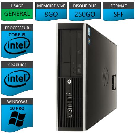 PC HP Pro Core i5 8Go 250Go Windows 10 pro
