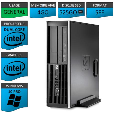 HP Elite 8200 4Go SSD525 W10P