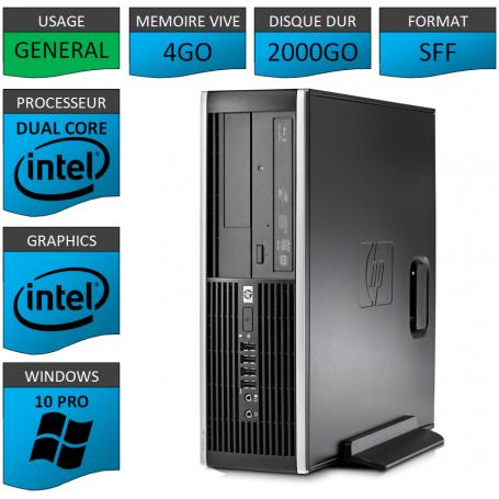 HP Elite 8200 4Go 2000Go W10P