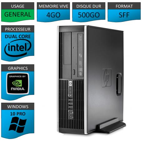 HP Elite 8300 4Go 500Go W10P Geforce