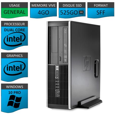 HP Elite 8300 4Go SSD525 W10P