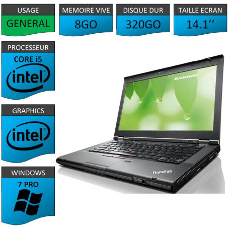 Lenovo T430 Core i5 8Go 320Go Windows 7