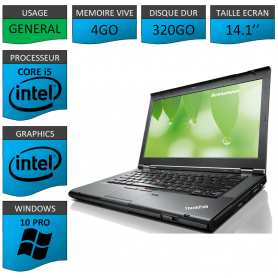 Lenovo T430 Core i5 4Go 320Go Windows 10
