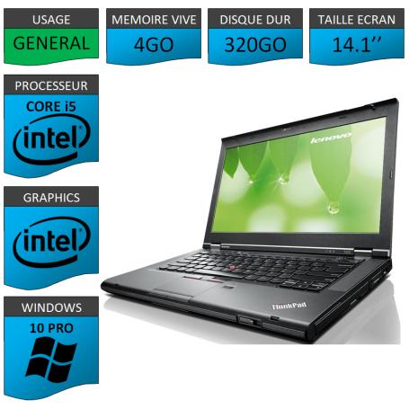 Lenovo T430 Core i5 4Go 320Go Windows 10